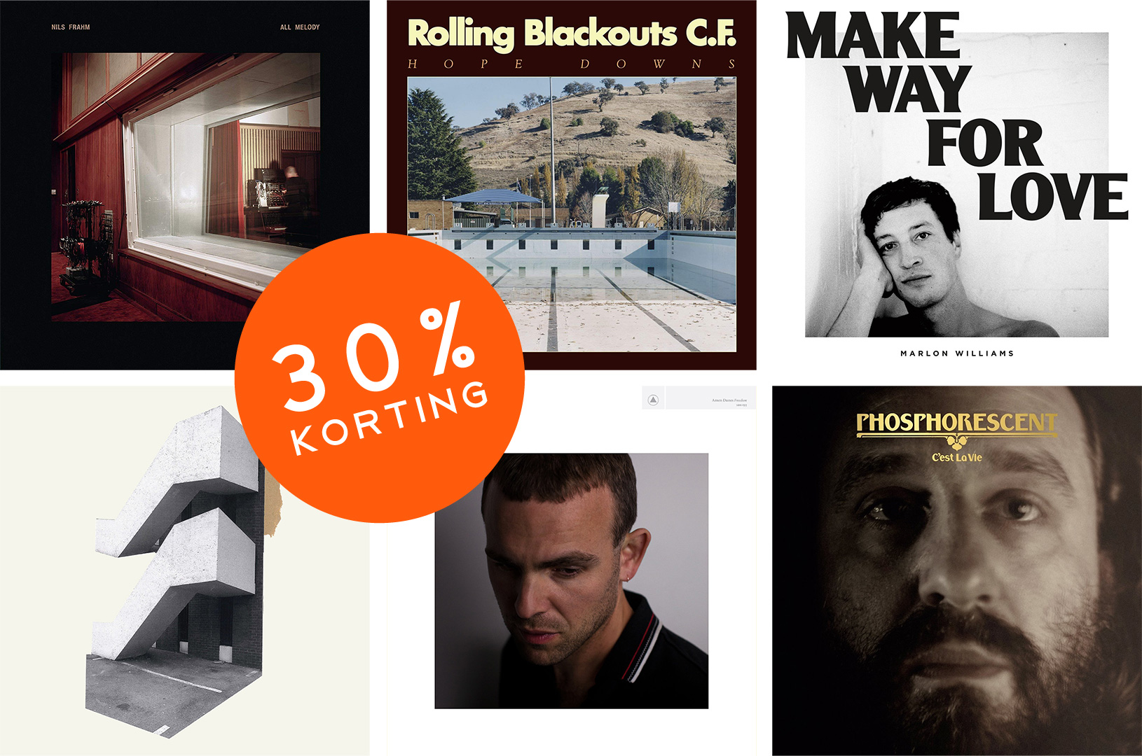 Velvet December Actie | 30% korting | Amen Dunes | Damien Jurado | Marlon Williams | Nils Frahm | Phosphorecent | Rolling Backouts
