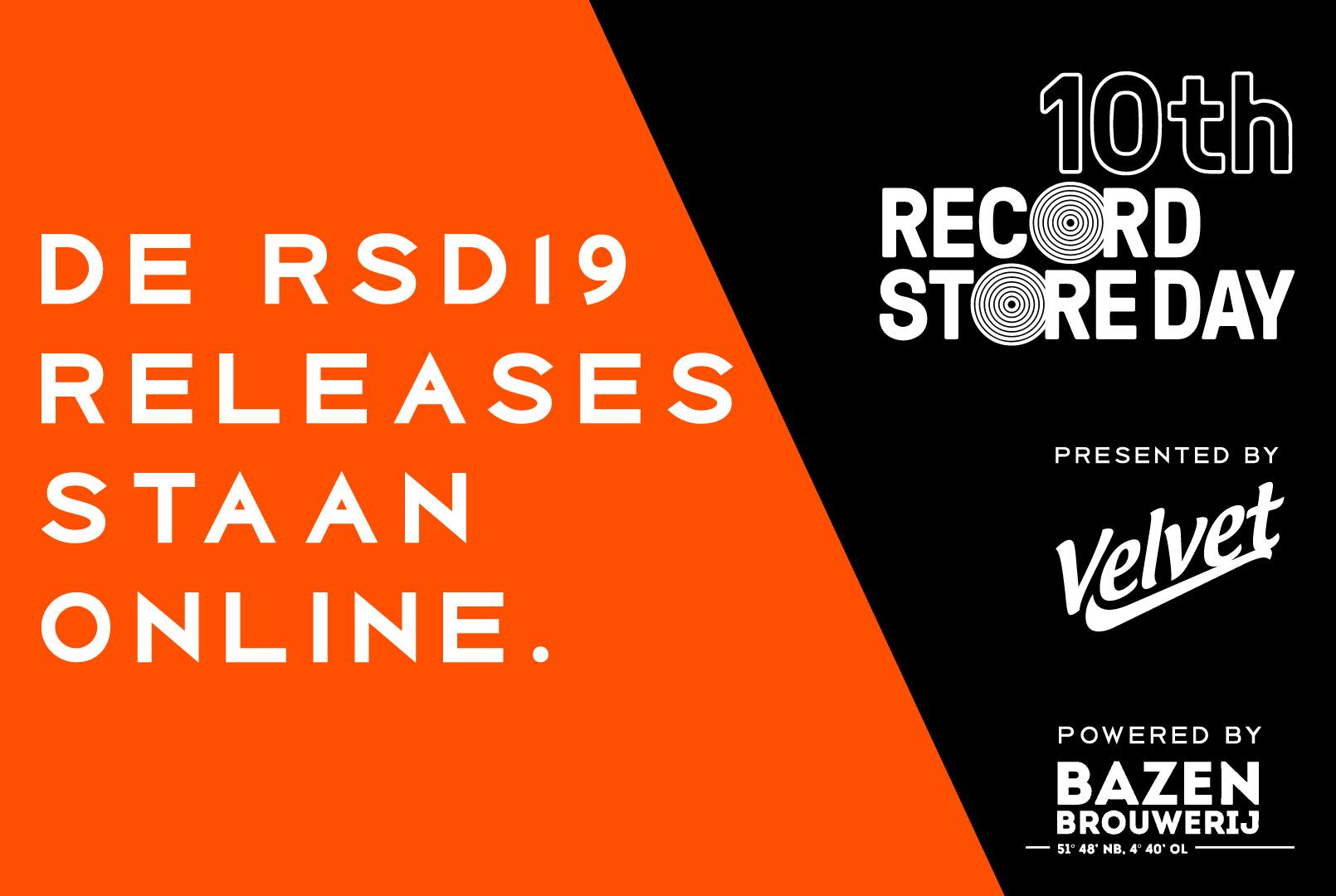 Releases Record Store Day 2019 Bekend | Velvet Music Dordrecht | Het Magazijn