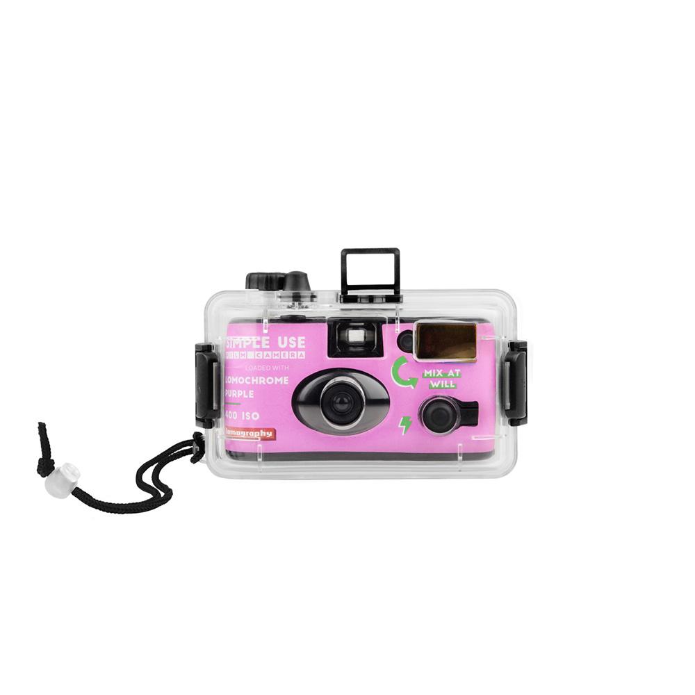 Lomography Simple Use Purple Film Camera + Underwater Case | FotoFilmFabriek | Het Magazijn Dordrecht