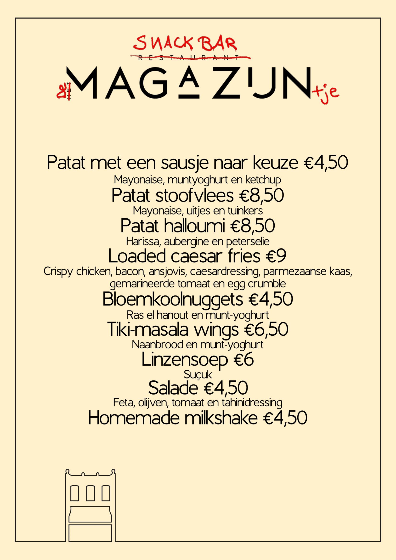 Snackbar menu