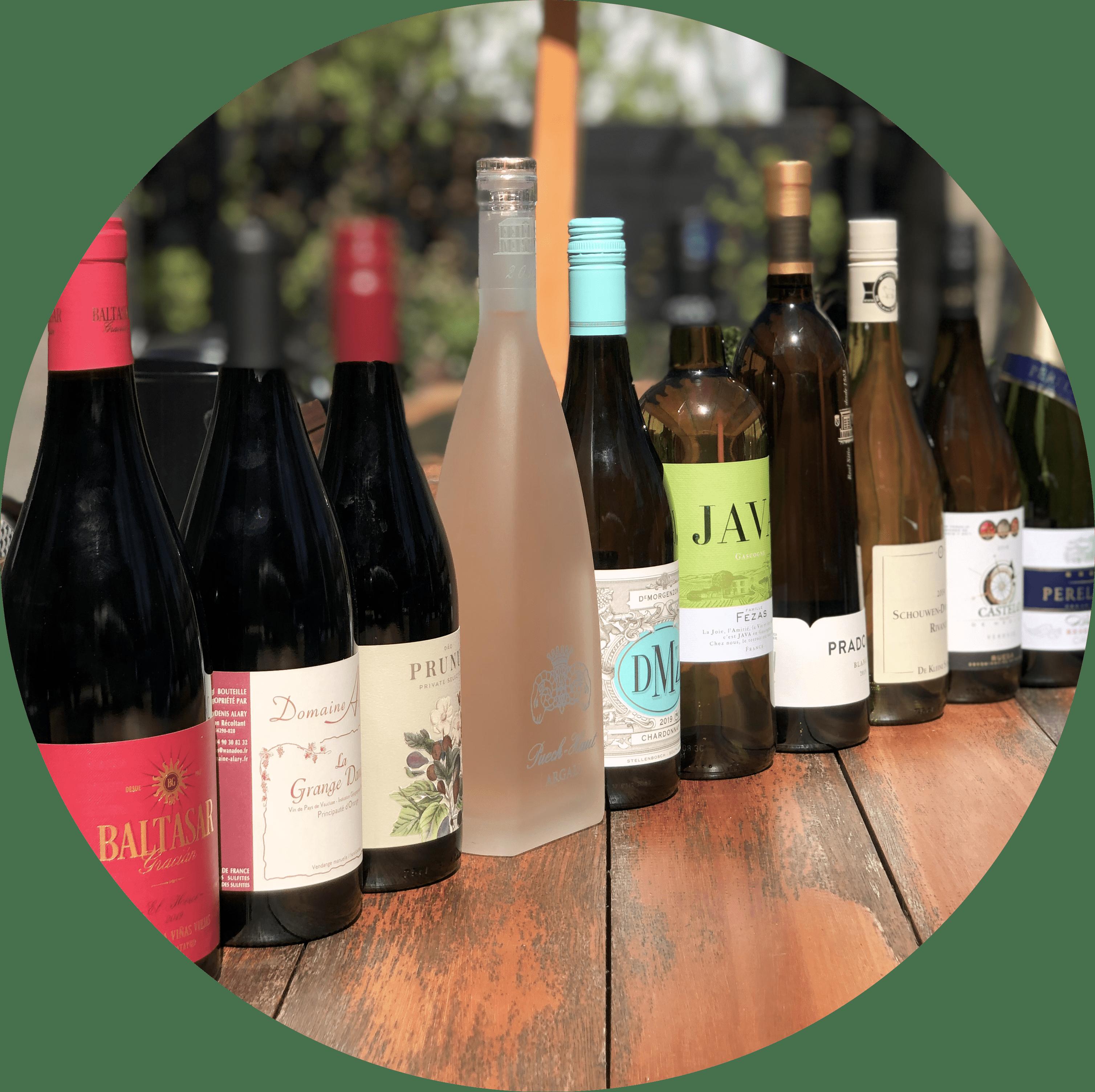 wijnen op fles